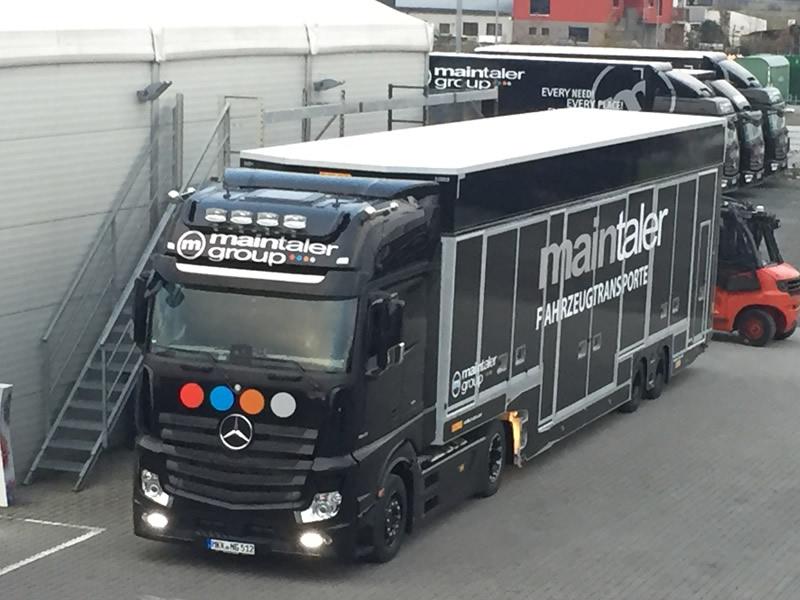 LKW 6er Sattelzug – Koffer + Ladelift
