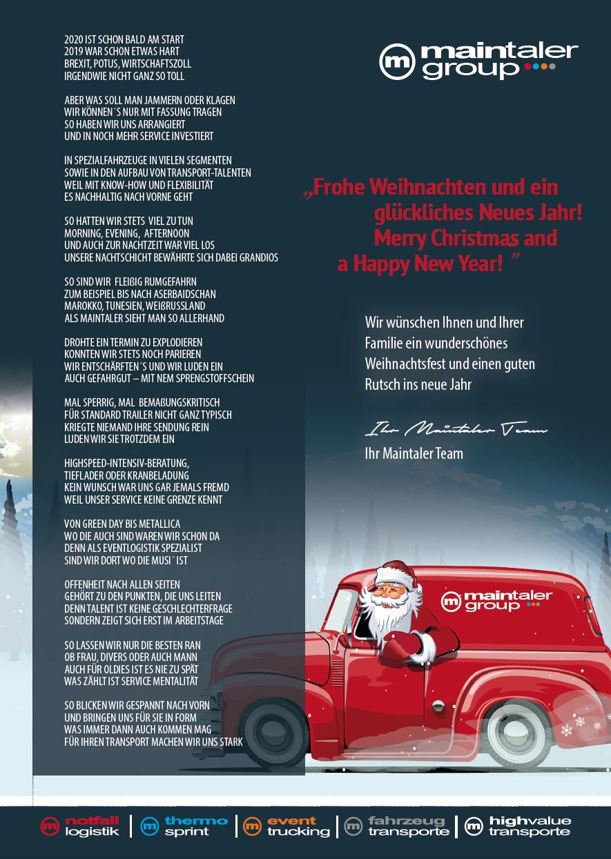 Das Weihnachtsgedicht 2019 Der Maintaler Group