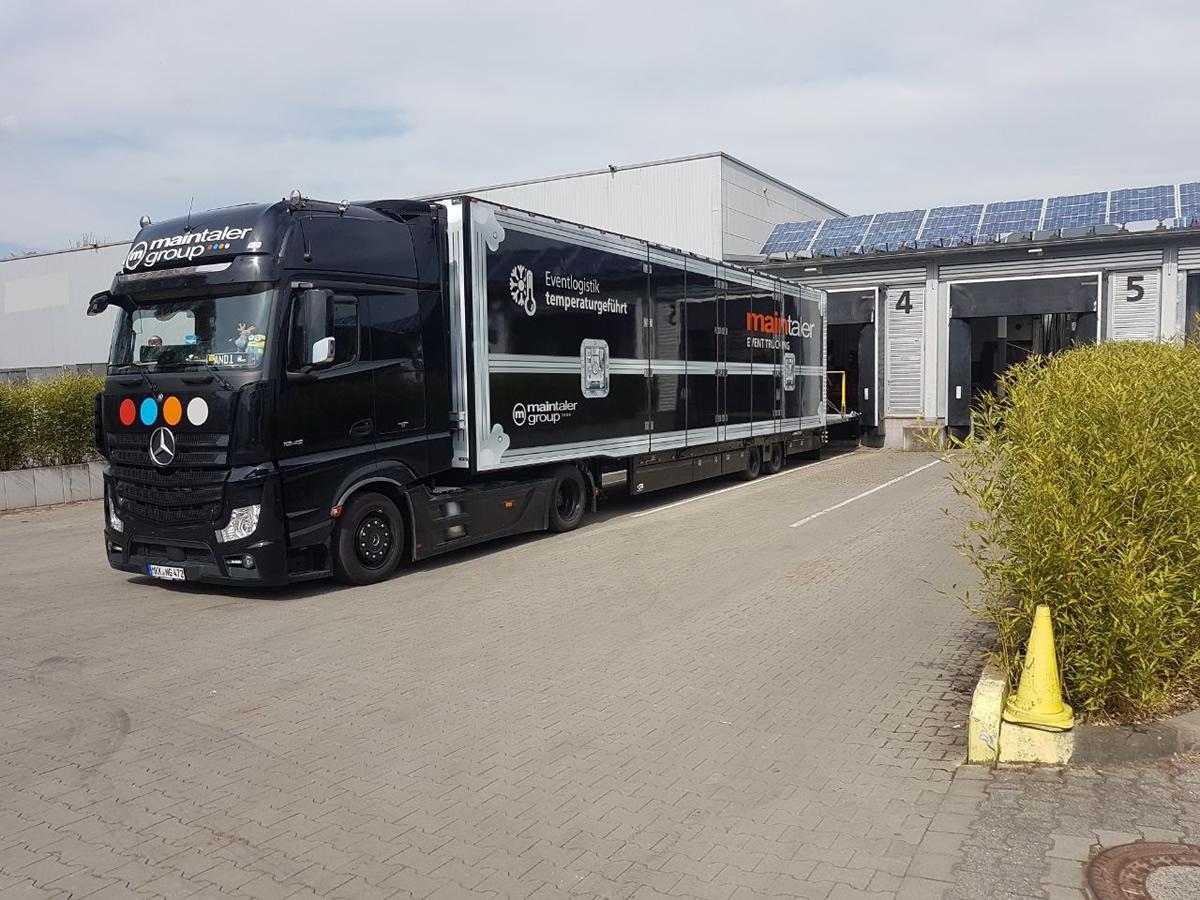 LKW 40t Megatrailer-Koffer-Ladelift-klimatisiert